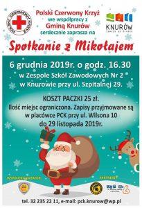 Knurów: Polski Czerwony Krzyż Oddział Knurów zaprasza na spotkanie z Mikołajem