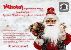 DK Wilcza: Zaprasza na spotkanie z Mikołajem