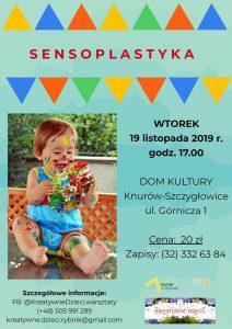 Knurów: Zajęcia sensoplastyczne dla dzieci od 1. roku życia