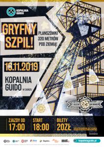 """Zabrze: """"Gryfny Szpil"""" - planszówki 320 m pod ziemią w Guido"""