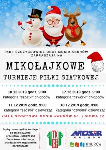 MOSiR Knurów: Mikołajkowe Turnieje Piłki Siatkowej w kategorii Minisiatkówka ( chłopcy)