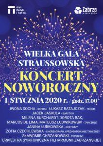 """Zabrze:  """"Wielka Gala Straussowska"""" - koncert noworoczny"""