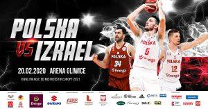 Arena Gliwice: Mecz koszykówki: Polska vs Izrael – kwalifikacje do ME 2021