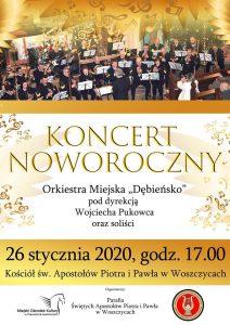 """Woszczyce: Koncert Noworoczny z Orkiestrą Miejską """"Dębieńsko"""""""