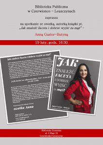 BP Czerwionka-Leszczyny: Spotkanie z Anną Guzior-Rutyną