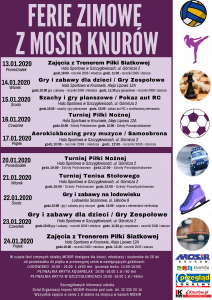Knurów: Ferie Zimowe z MOSiR Knurów ( turniej tenisa stołowego - szkoły ponadpodstawowe)