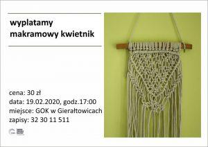 GOK Gierałtowice: Makramowy kwietnik