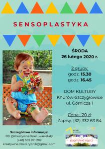 Knurów: Zajęcia sensoplastyczne dla dzieci od 1. roku życia w DK