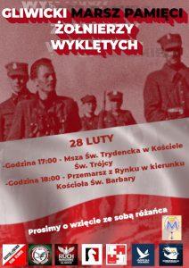 Gliwicki Marsz Pamięci Żołnierzy Wyklętych – 28 lutego