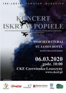 CKE Czerwionka-Leszczyny: Koncert Iskry w Popiele na 100-lecie Powstań Śląskich