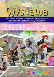 Knurów: Wystawa prac małych artystów - uczestników zajęć plastycznych w DK