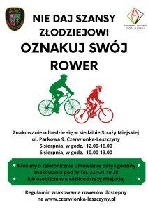 """Czerwionka-Leszczyny: """"Oznakuj swój rower"""""""