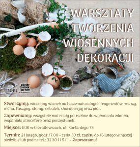 GOK w Gierałtowicach: Warsztaty tworzenia wiosennych dekoracji @ Gierałtowice | śląskie | Polska