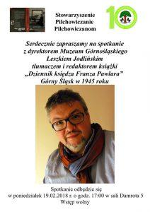 Pilchowiczanie Pilchowiczanom: Spotkanie z dyrektorem Muzeum Górnośląskiego Leszkiem Jodlińskim @ Pilchowice | śląskie | Polska