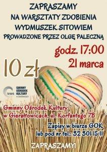 GOK w Gierałtowicach: Warsztaty zdobienia jaj wielkanocnych z wykorzystaniem sitowia @ Gierałtowice | śląskie | Polska
