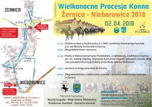 Pilchowice: Procesja konna Żernica-Nieborowice 2018