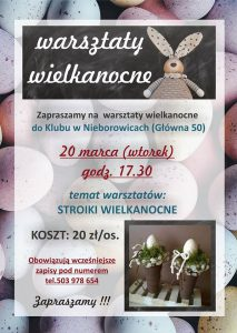 GOK Pilchowice: Klub Nieborowice Warsztaty wielkanocne @ Nieborowice | śląskie | Polska