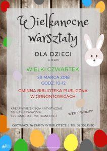 Ornontowice: Wielkanocne warsztaty dla dzieci @ Ornontowice | śląskie | Polska