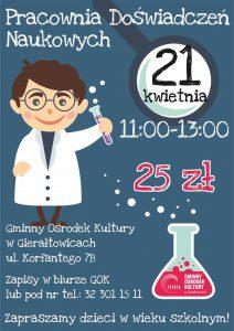 GOK w Gierałtowicach: Pracownia Doświadczeń Naukowych @ Gierałtowice | śląskie | Polska