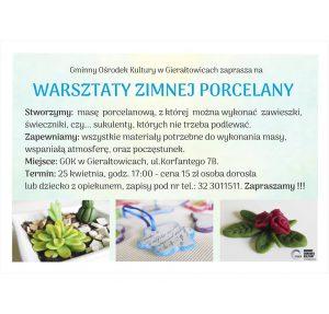 GOK Gierałtowice: Warsztaty zimnej porcelany @ Gierałtowice | śląskie | Polska