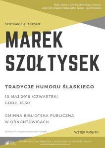 Gminna Biblioteka Publiczna w Ornontowicach: Spotkanie autorskie z Markiem Szołtyskiem @ Ornontowice | śląskie | Polska