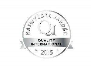 Logo Srebrnego Godła Najwyższa Jakość Quality International 2015 w kategorii  QI Product dla Budotechnika Sp. z o.o.