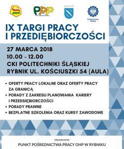 IX Targi Pracy i Przedsiębiorczości w Rybniku @ Rybnik | śląskie | Polska
