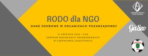 Czerwionka-Leszczyny: Szkolenie RODO dla NGO @ Czerwionka-Leszczyny | śląskie | Polska