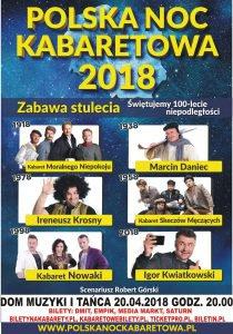 Dom Muzyki i Tańca w Zabrzu: Polska Noc Kabaretowa 2018 @ Zabrze | śląskie | Polska